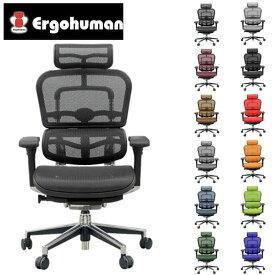 【完成品】 エルゴヒューマン ベーシック ハイ EH-HAM [オフィスチェア メッシュチェア メッシュバック オフィス家具 チェア 椅子 いす OAチェア デスクチェア]