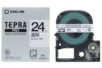 キングジム テプラPROテープカートリッジ 透明ラベル24mm幅 ST24K 【RCP】