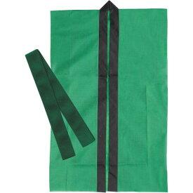 Artec(アーテック) ロングハッピ不織布 緑 S(ハチマキ付) #1170