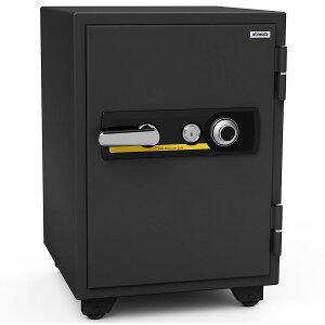 【開梱設置無料】【送料無料】エーコー 家庭用小型耐火金庫 STANDARD BSD-XA (ダイヤル&シリンダー式) A4ファイル対応 1時間耐火 51L  棚板1枚 鍵付引出し1個 アラーム付「EIKO」 103kg
