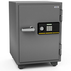 【開梱設置無料】【送料無料】エーコー 家庭用小型耐火金庫 STANDARD 665PK (テンキー&シリンダー式) A4ファイル対応 1時間耐火 51L  棚板1枚 鍵付引出し1個 「EIKO」 103kg