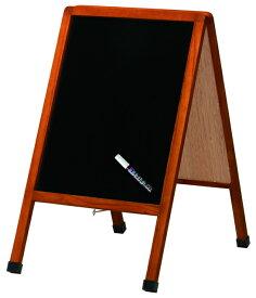 お得なおまけ付!! レイメイ藤井(Raymay) A型ブラックボード(小) LNB600 蛍光ボードマーカー白1本付 【RCP】