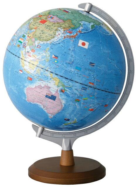 レイメイ藤井(Raymay) 国旗イラスト付地球儀 OYV321 球径30cm 行政タイプ 地球儀スケール付 【送料無料】【RCP】