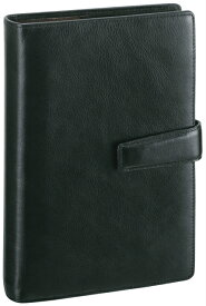 【ラッピング無料】【名入れ可(有償)】 レイメイ藤井(Raymay) ダ・ヴィンチシステム手帳 聖書サイズ(バイブルサイズ) ブラック DB3005B ビジネススタンダード スーパーロイスレザー リング24mm ダブルホックタイプ