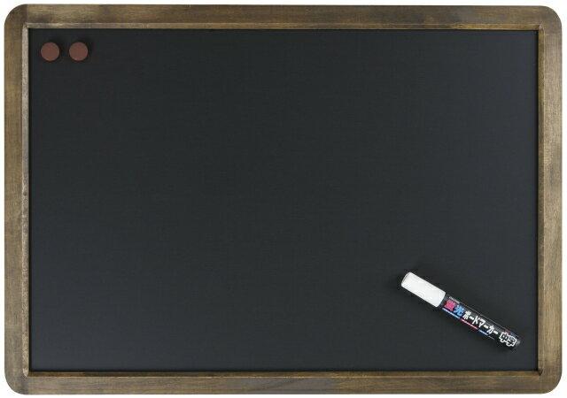 【メーカー欠品中 5月末入荷予定】レイメイ藤井(Raymay) アンティーク ブラックボード A2サイズ LNB385 蛍光ボードマーカー白1本付 【RCP】