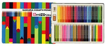 サクラクレパス クーピーペンシル60色(缶入り) FY60 【RCP】