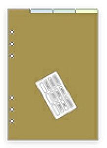 【メール便なら送料290円】レイメイ藤井 ダ・ヴィンチ リフィル A5サイズ アクセサリー カラーインデックス(4区分) DAR508