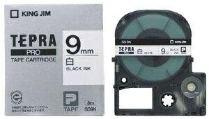 キングジム テプラPROテープカートリッジ 白ラベル SS9K 【RCP】