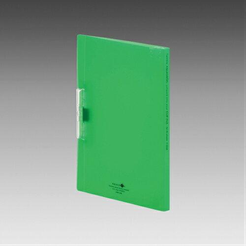 LIHIT LAB.<リヒトラブ> AQUA DROPs<アクア ドロップス> クリップファイル A4サイズ(A3サイズ・2ツ折)・S型(タテ型) 黄緑 F5036-6(F-5036-6) 【RCP】
