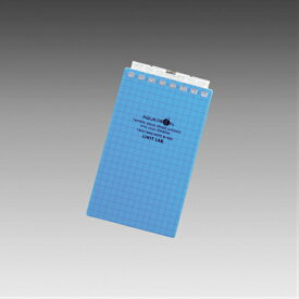 【メール便なら送料290円】LIHIT LAB.<リヒトラブ> AQUA DROPs<アクア ドロップス> ツイストリング・ノート メモサイズ(A7サイズ) 8穴 方眼罫 青 N1661-8(N-1661-8)