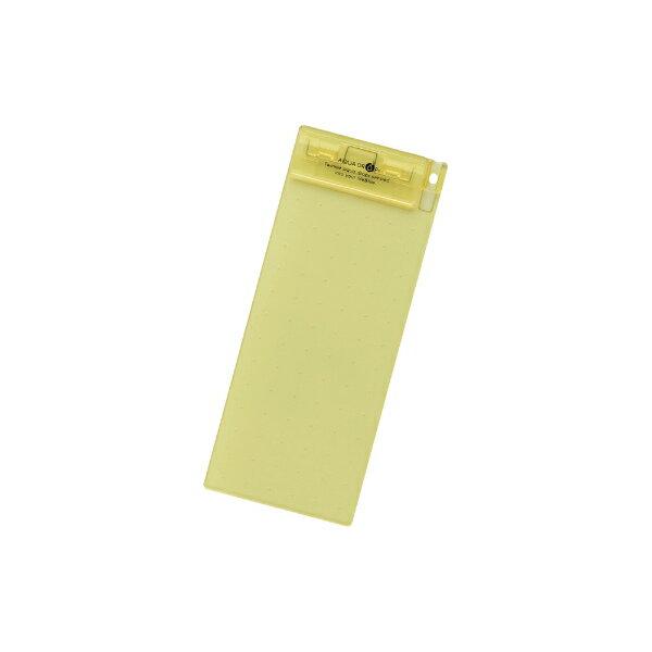 【メール便なら送料180円】LIHIT LAB.<リヒトラブ>AQUA DROPs 超薄型クリップボード88×200・E型 A-5060-5黄/A5060-5/A5060-黄/A-5060-黄