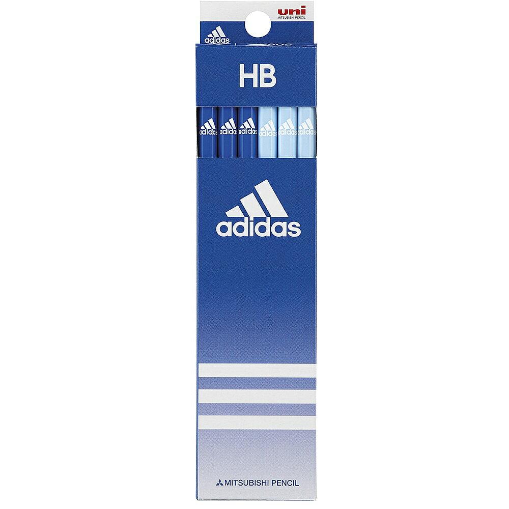 【メール便なら送料120円】三菱鉛筆adidas<アディダス>紙箱鉛筆5062 AI青 HB