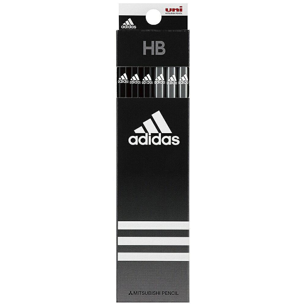 【メール便なら送料180円】三菱鉛筆adidas<アディダス>紙箱鉛筆5063 AI黒 HB