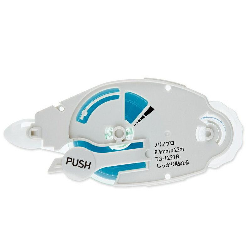 プラス(PLUS) テープのり norino(ノリノプロ) つめ替え用テープ 「しっかり貼れる」 TG-1221R ホワイト 8.4mm 39-246