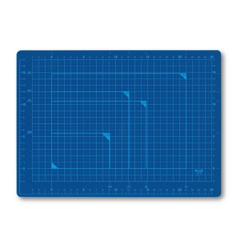 【メール便なら送料180円】プラス(PLUS)カッターマット カッティングマット A4 ブルー CS-A4 BL 48-571
