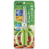 プラス(PLUS)キッチンばさみフィットカットカーブ料理はさみSC-200SWレタスグリーン35-118