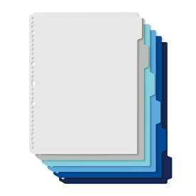 プラス(PLUS)インデックスシート Deja vu Colors (デジャヴ カラーズ) A4-S 4穴30穴 6山1組 クールトーンライン FL-102IX 89-428