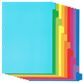 プラス(PLUS)インデックスシート PP製 10山1組 A4-S 2穴 10色 カラーミックス FL-210IX 86-193