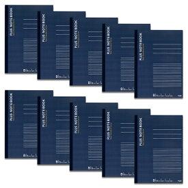 プラス(PLUS)ノート ノートブック セミB5 B罫 30枚 ブルー 10冊パック NO-003BS-10P 76-730