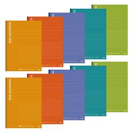 プラス(PLUS)ノート カラーアソート A4 A罫 40枚 5色 10冊パック NO-204AS-10CP 76-745