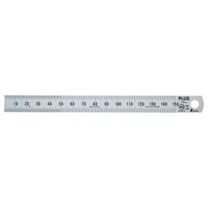 【メール便なら送料290円】プラス(PLUS)定規 ステンレス直尺 15cm 0.5mm厚 シルバー 47-741