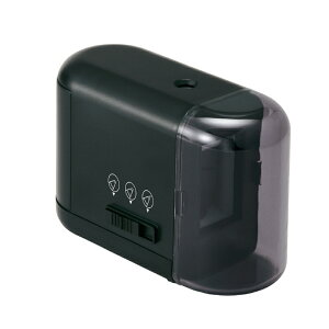 プラス PLUS 鉛筆削り 乾電池式 電動 芯先3段階調節 ブラック 単3電池 電動 鉛筆削り 鉛筆けずり 文具 事務用品 事務 FS-077 84-031