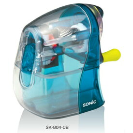 ソニック 手動鉛筆削り かるハーフ スケルトン クリアブルー SK-804-CB