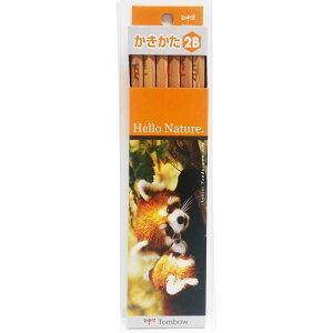【メール便なら同種6ダースまで240円】ハローネイチャーかきかた鉛筆 レッサーパンダ2B KB-KHNLP2B トンボ鉛筆