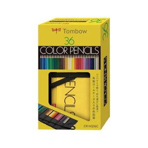 トンボ 鉛筆 Tombow ロールケース入色鉛筆 36色 NQ 色鉛筆 ロールケース 布製ペンケース 軽い コンパクト イラスト デザイン スケッチ アート 画材 CR-NQ36C