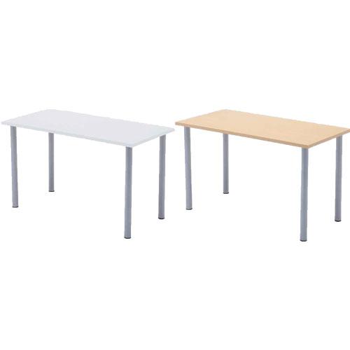 エコノミーテーブル 幅1200 奥行600 高さ700mm ホワイト ナチュラル RFヤマカワ ローテーブル 小さめ 脚 テーブル デスク センターテーブル 白 1441030