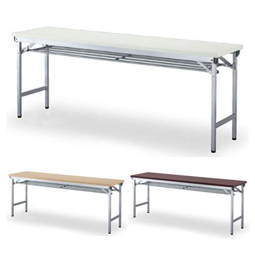 ARN折畳テーブル棚付 幅1800 奥行450 高さ700mm ホワイト ナチュラル ローズ テーブル 折りたたみテーブル 折りたたみ 高さ70cm 70cm 70 ハイテーブル 1744230
