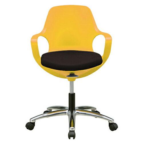 POGOチェア 幅645 奥行645 高さ805-890 座面高さ455-540mm イエロー レッド トープ ブラック 関家具 オフィスチェア オフィスチェアー キャスター クッション パッド デスクチェア パソコンチェア 椅子 チェア SK-094241 SK-094242 SK-094243 SK-094244