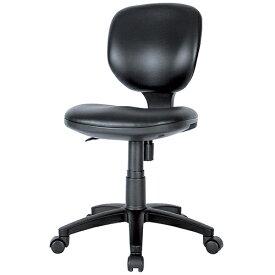 BRUシリーズ 布チェア(肘無) PVC ブラック レザー生地 井上金庫 BRU-P13-BK 幅460 奥行560 高さ800-890(座面高さ430-520) デスクチェア パソコンチェア チェア 椅子 イス いす