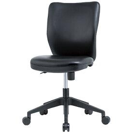 OCシリーズ 布チェア(肘無) PVC ブラック 井上金庫 OC-P102-BK 幅460 奥行515 高さ837-941(座面高さ425-529) デスクチェア パソコンチェア チェア 椅子 イス いす