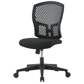 D4Cシリーズ メッシュチェア(肘無)(樹脂脚) ブラック 井上金庫 D4C-07 幅485 奥行550 高さ902-982(座面高さ400-480) デスクチェア パソコンチェア チェア 椅子 イス いす