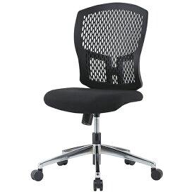D4Cシリーズ メッシュチェア(肘無)(メッキ脚) ブラック 井上金庫 D4C-07M 幅485 奥行550 高さ902-982(座面高さ400-480) デスクチェア パソコンチェア チェア 椅子 イス いす