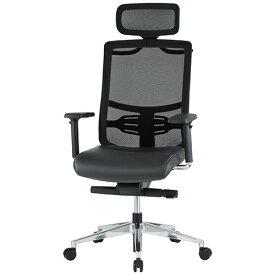 FMTシリーズ ハイクラスチェア(上下可動肘付) ブラック 井上金庫 FMT-05A 幅620 奥行620 高さ1180-1270(座面高さ450-540) デスクチェア パソコンチェア メッシュバックチェア メッシュ チェア 椅子 イス いす ハンガー ヘッドレスト