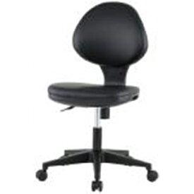 GYシリーズ 布チェア(肘無) PVC ブラック レザー生地 井上金庫 GY-P129N-BK 幅460 奥行595 高さ825-935(座面高さ405-515)mm デスクチェア パソコンチェア 椅子 イス いす