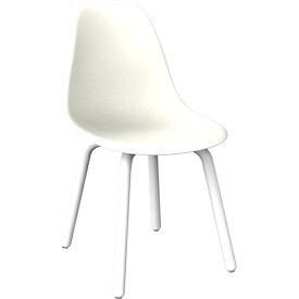 ミーティングチェア 4本脚 幅465 奥行540 高さ815(座面高さ440)mm ホワイト ブラック 井上金庫 会議椅子 ミーティングチェア オフィスチェア 会議用チェア IK-LAIN-7068F