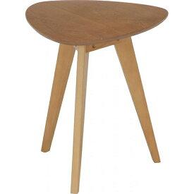 コーヒーテーブル 中 幅400 奥行400 高さ600mm ナチュラル ブラウン 不二貿易 ミニテーブル 木製 ウォールナット かわいい 北欧 サイドテーブル スリム 丸 FB-31390 FB-31393