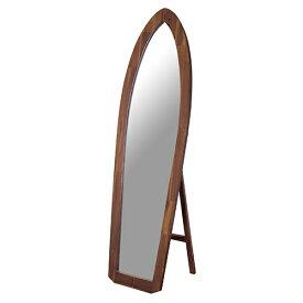 サーフミラー 幅480 奥行390 高さ1600mm 東谷 ブラウン ミラー 鏡 全身鏡 スタンドミラー 姿見 天然木 AY-TSM-532 鏡