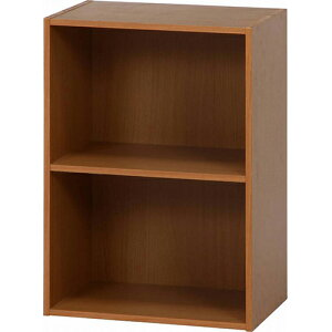 カラーボックス2段 幅418 奥行290 高さ600mm ナチュラル ブラウン ホワイト 大容量 おしゃれ 木 子供 こども 木製 天然木 無垢 カラーボックス 収納ボックス 収納棚 本棚