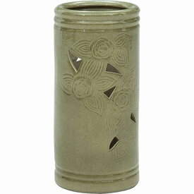 陶製傘立て 幅200 奥行200 高さ430mm グリーン レッド イエロー 不二貿易 陶器 陶製 FB-94746 FB-94747 FB-94748