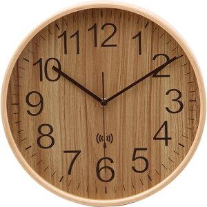 電波掛時計 プライウッド 28cm