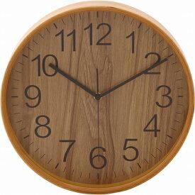 プライウッド掛時計 Φ28cm 幅280×奥行45×高さ280mm ナチュラル ブラウン ホワイト ネイビー 不二貿易 壁掛け おしゃれ 北欧 壁掛け時計 FB-85366 FB-85367 FB-85368 FB-85369