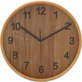 プライウッド掛時計 Φ22cm 幅220×奥行45×高さ220mm ナチュラル ブラウン ホワイト ネイビー 不二貿易 壁掛け おしゃれ 北欧 壁掛け時計 FB-85358 FB-85359 FB-85360 FB-85361