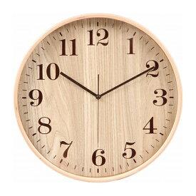 プライウッド掛時計 Φ32cm 幅320×奥行45×高さ320mm ナチュラル ホワイト 不二貿易 壁掛け おしゃれ 北欧 壁掛け時計 FB-70098 FB-70099