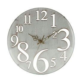 壁掛け時計 レトロ Φ32cm 幅320×奥行45×高さ320mm ホワイト ブラウン 不二貿易 壁掛け おしゃれ 北欧 壁掛け時計 アンティーク FB-56920 FB-56921