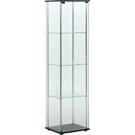 ガラスコレクションケース 4段(背面ミラー無し)幅425 奥行365 高さ1600mm 不二貿易 ガラスケース ガラスキャビネット コレクションケース 小物 フィギュア キャビネット ガンプラ コレクション ガラス FB-96047 当店人気商品
