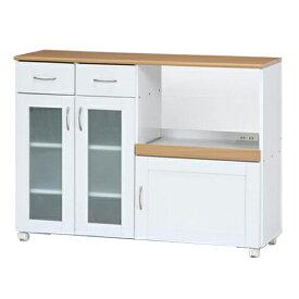 キッチンカウンター サージュ 幅120cm 幅1200 奥行395 高さ890mm ホワイト/ナチュラル 不二貿易 カウンター キッチンワゴン 収納 食器棚 食器 棚 キッチン 引き出し ラック FB-96820